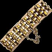 Fabulous 1940's STERLING Silver Large Link Bracelet