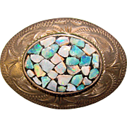 Fabulous OPAL NUGGETS Scandia Sterling Signed Vintage Brooch