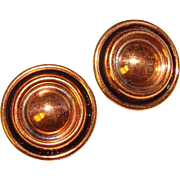 Gorgeous RENOIR Vintage Copper Clip Earrings