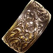Fabulous S. KIRK & SON Sterling Repousse Pattern Vintage Bangle Bracelet