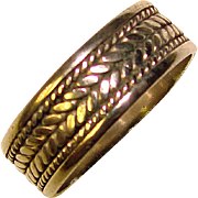 Gorgeous STERLING Silver Braided Design Band Ring