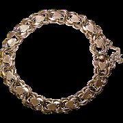 Fabulous STERLING HEART Design Vintage Starter Charm Bracelet