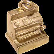Awesome CASH REGISTER Movable Sterling Vintage Estate Charm