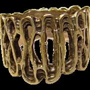 Awesome STERLING MODERNIST Design Vintage Estate Ring