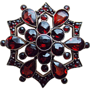 Small Antique Bohemian Garnet Brooch