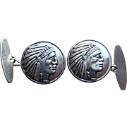 Indian Chief Vintage Cufflinks