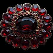 Gorgeous Red Rhinestone Vintage Brooch