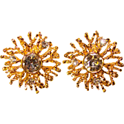 Fabulous KJL Kenneth Jay Lane Avon Rhinestone Clip Earrings