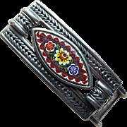 Micro Mosaic Signed Vintage Buckle - Ben Amun