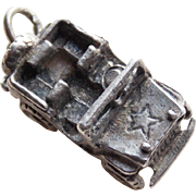 Sterling Army Jeep Sweetheart Vintage Charm
