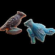 Vintage Bird Plastic Buttons