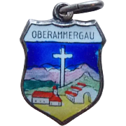 800 Silver & Enamel Oberammergau Vintage Charm - Germany