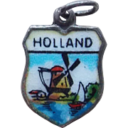 Vintage 835 Silver & Enamel Holland Charm