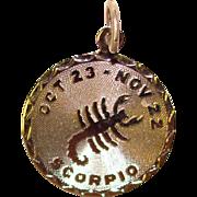 Awesome Sterling SCORPIO Vintage Zodiac Charm