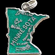 Sterling Enamel Minnesota Vintage Charm