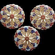 Victorian Enamel Large Buttons