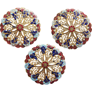 Victorian Enamel Large Buttons