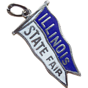 Sterling & Enamel Illinois State Fair Vintage Estate Charm
