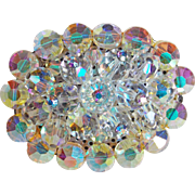 Gorgeous Aurora Crystal Vintage Brooch