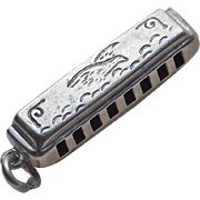 Sterling Harmonica Vintage Charm