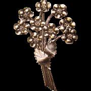 Fabulous STERLING BY LEGRO Large Vintage Flower Bouquet Brooch
