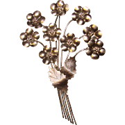 Fabulous STERLING BY LEGRO Large Vintage Flower Bouquet Brooch