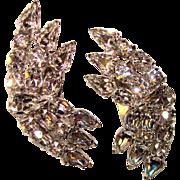 Fabulous Sparkling Rhinestone Vintage Clip Earrings