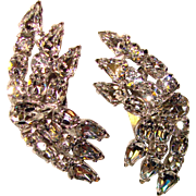 Fabulous Sparkling Rhinestone Vintage Clip Earrings