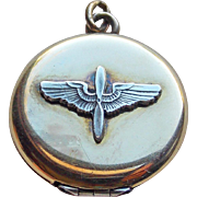 WWII Army Air Corps Wings Sweetheart Locket
