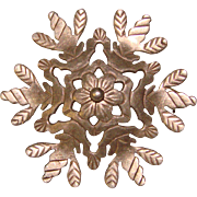 Gorgeous STERLING Abbott Gotshall Signed Snowflake Brooch