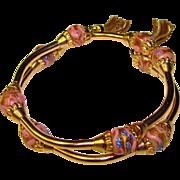 Gorgeous VENETIAN GLASS Beads Wrap Bracelet with Tassels