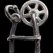 Sterling Spinning Wheel Mechanical Vintage Charm