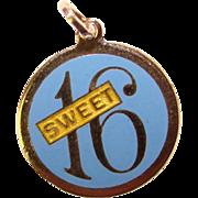 BEAU Sterling & Enamel Sweet 16 Vintage Charm