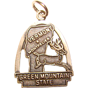 Awesome Sterling VERMONT Vintage State Charm