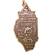 Awesome Sterling ILLINOIS Vintage State Charm