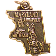 Awesome Sterling MARYLAND Vintage State Charm
