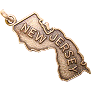 Awesome Sterling NEW JERSEY Vintage State Charm