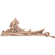 Awesome STERLING USS New Jersey Battleship Vintage Charm