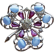 Gorgeous Coro Clover Vintage Brooch