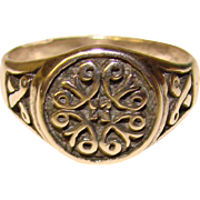 Gorgeous STERLING Ornate Patterned Estate Ring