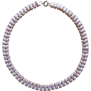 Vintage Pink Glass Choker - Necklace for Very Small Neck