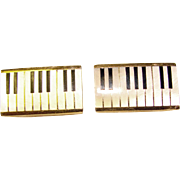 Awesome Vintage PIANO KEYS Mother of Pearl Swank Austria Cufflinks