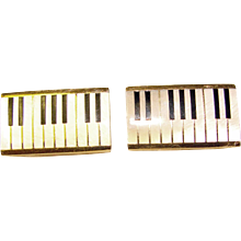 Awesome Vintage PIANO KEYS Mother of Pearl Swank Austria Cufflinks - Red Tag Sale Item