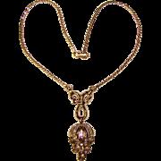 Fabulous TRIFARI Signed Clear Rhinestone Vintage Necklace