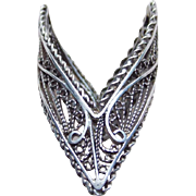 Fabulous Filigree Sterling Unusual Vintage Ring