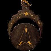 Vintage EASTERN STAR Masonic Secret Spinner Mechanical Charm Pendant