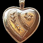Tiny 14K Gold Filled Vintage Heart Locket For Doll