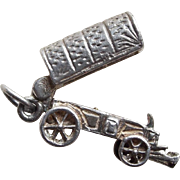 Sterling Covered Wagon Mechanical Vintage Charm - Opens
