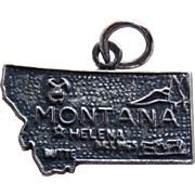 Awesome MONTANA Sterling Vintage Charm - State Souvenir