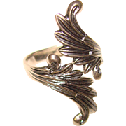 Gorgeous STERLING Silver Vintage Bypass Design Ring